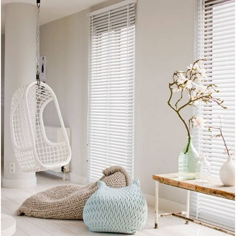 HANGING CHAIR | white-painted rattan by HK Living