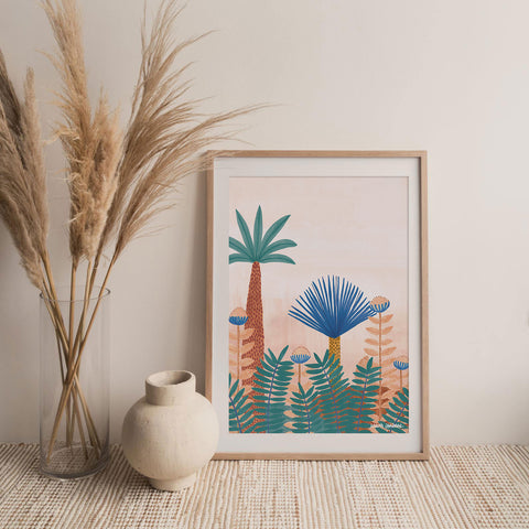 ART PRINT | Jungle Blooms by Karina Jambrak