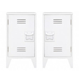 BEDSIDE TABLE | set of two lockers in white by hk living  sc 1 st  Cranmore Home : set of bedside tables - pezcame.com
