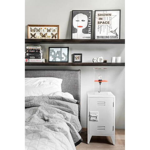 BEDSIDE TABLE | set of two lockers in white by hk living