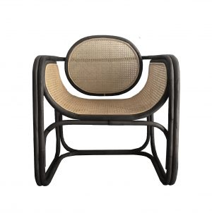 OCCASIONAL CHAIR  | min design in black by mrd home