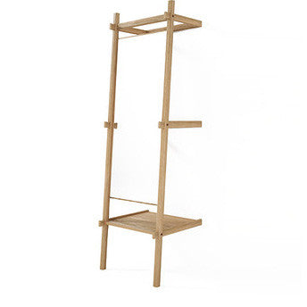 MIRROR | standing design in oak with shelf by SLH