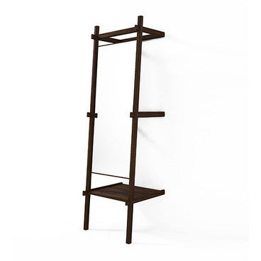 MIRROR | standing design in walnut with shelf by SLH
