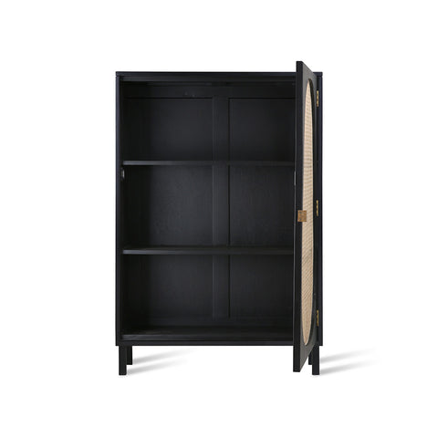 CABINET | Retro Webbing Single Door Black by HK Living
