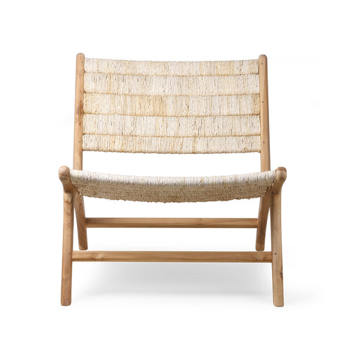 OCCASIONAL CHAIR | Abaca Teak Lounge by HK Living