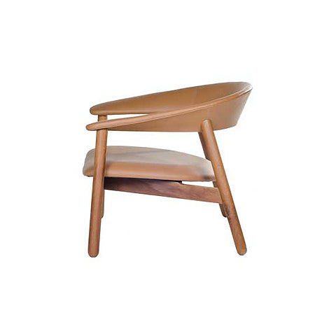 OCCASIONAL CHAIR | boomerang design in tan by satara