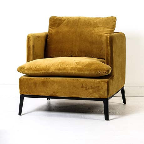 OCCASIONAL CHAIR | lewis in bronze mist velvet