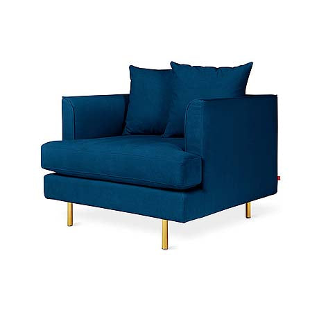 OCCASIONAL CHAIR | gus margot in midnight velvet by globewest
