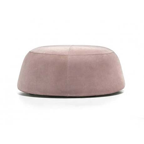 OTTOMAN | large pippa design in dusty pink velvet by MRD