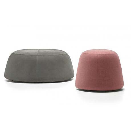 OTTOMAN | large pippa design in grey velvet by MRD