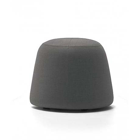 OTTOMAN | small pippa design in grey velvet by MRD