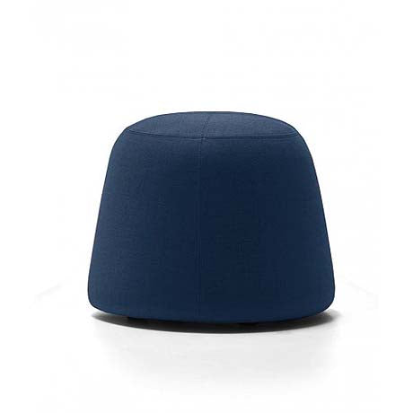 OTTOMAN | small pippa design in navy velvet by MRD