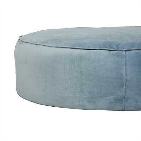 OTTOMAN | vittoria retreat design in blue-green velvet by globewest