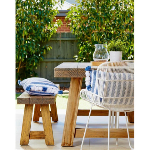 ... OUTDOOR DINING CHAIR | Granda Butterfly In White By Globewest