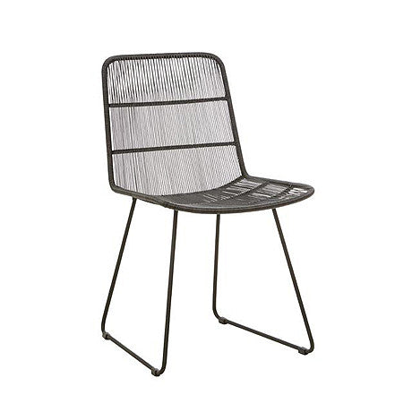 OUTDOOR DINING CHAIR | Granada Sleigh Design in Liquorice by Globewest