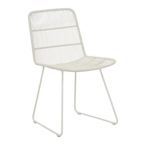 OUTDOOR DINING CHAIR | granada sleigh design in light grey by globewest