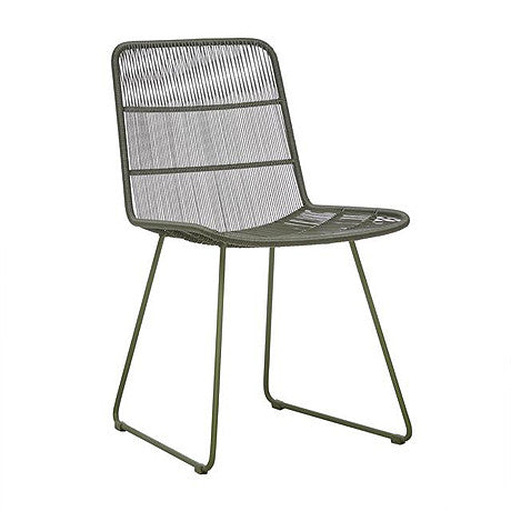 OUTDOOR DINING CHAIR | granada sleigh design in moss by globewest