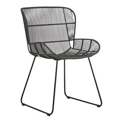 OUTDOOR DINING CHAIR | granda butterfly in black by globewest
