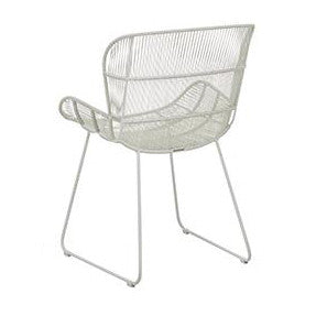 OUTDOOR DINING CHAIR | granda butterfly in light grey by globewest