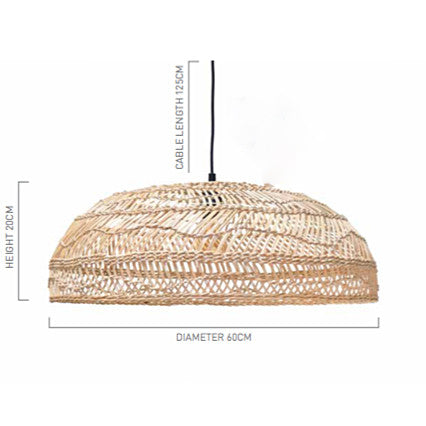 PENDANT | medium handwoven flat wicker by hk living