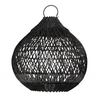 PENDANT | tear-drop rattan design by bisque