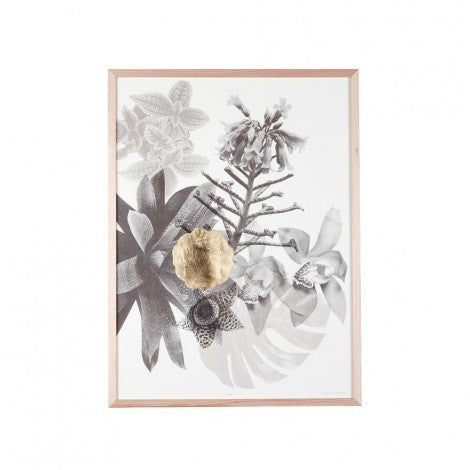 PRINT | rare garden with gold leaf detail by bonnie + neil