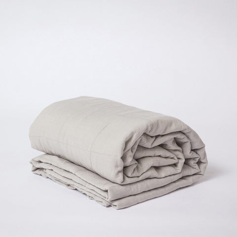 BEDCOVER | quilted smoke grey linen by cultiver