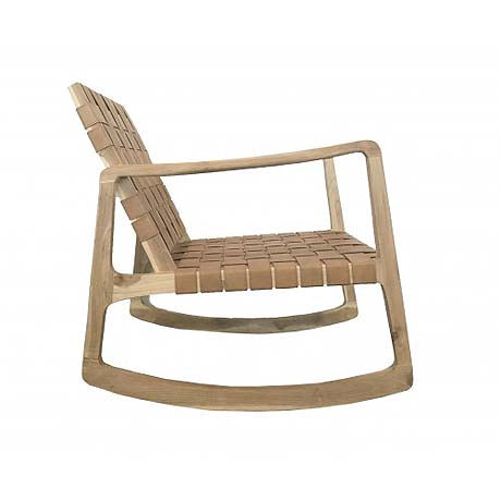 OCCASIONAL CHAIR | gabi 'rocker' in caramel leather by MRD