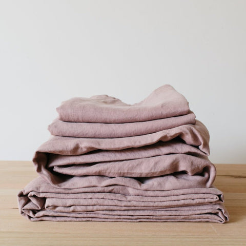 SHEET SET | dusky rose linen by bedtonic