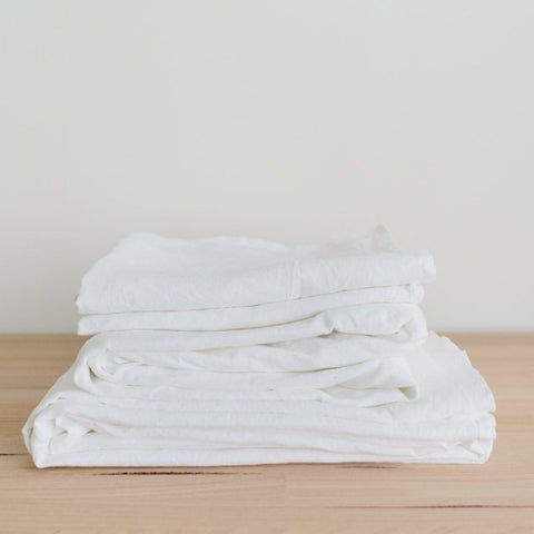 SHEET SET | winter white linen by bedtonic