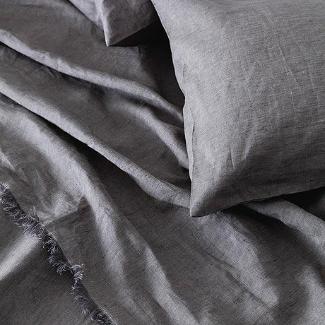 SHEET SET | charcoal linen by the beach people