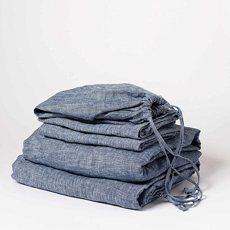 SHEET SET | indigo linen by cultiver