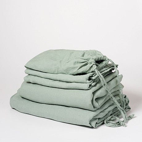 SHEET SET | sage green linen by cultiver
