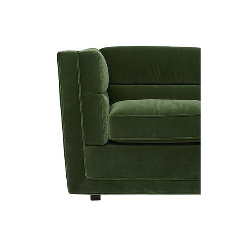 SOFA | gus bogart block design 3-seater in green velvet by globewest
