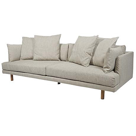 Sofa Vittoria Iris 4 Seater In Stone By Globewest
