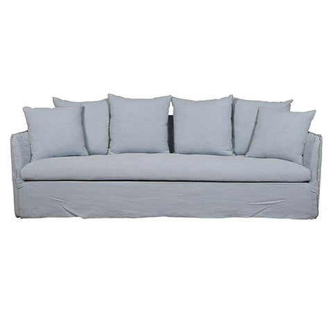 SOFA | vittoria slip cover three seater in sky by globewest