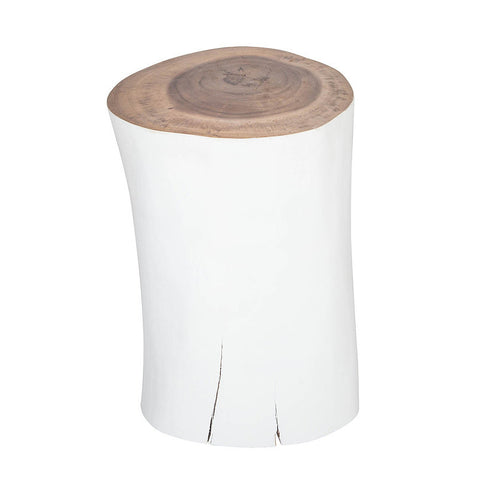 SIDE TABLE | STOOL | painted timber log by uniqwa