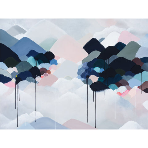 ART PRINT |  storm clouds + mountains by Jessie Rigby