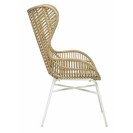 OCCASIONAL CHAIR | tango willow design in natural + white by globewest