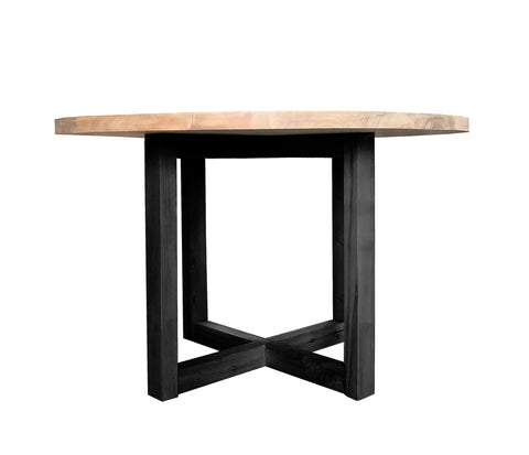 DINING TABLE | Terence Round with black legs design by mrd home
