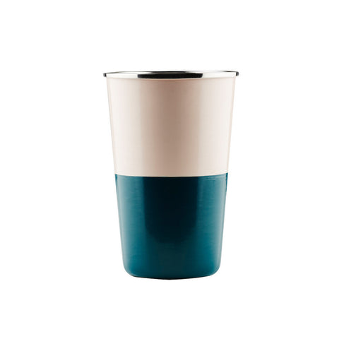 TUMBLER | zimmi enamel in blush + teal by sage + clare