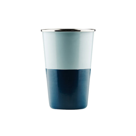 TUMBLER | zimmi enamel in dusty green + teal by sage + clare