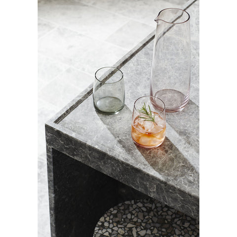 TUMBLERS | wylie low tumbler in smoke set of four by milk + sugar