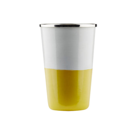 TUMBLER | zimmi enamel in grey + chartreuse by sage + clare