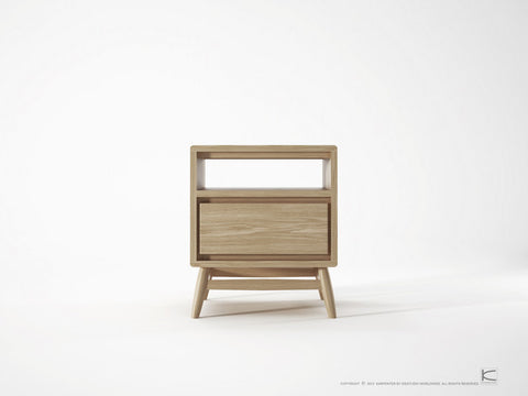 SIDE TABLE | twist 1 drawer in oak by sounds like home