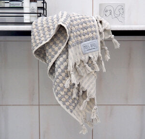 HAND TOWEL | Pom Pom Grey by Miss April Towels