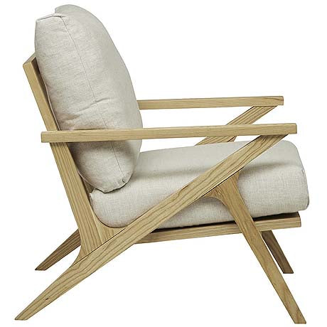 OCCASIONAL CHAIR | vittoria folk design in canvas + natural ash by globe west