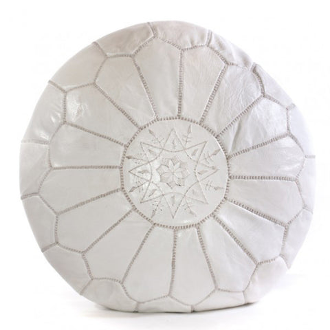 OTTOMAN | white moroccan by cush + co