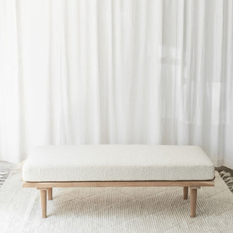 BENCH | Wilbur Boucle Ivory by McMullin & Co.