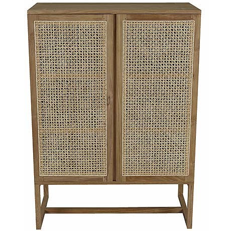 STORAGE | woven willow design in teak by globewest